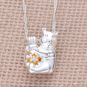 Jewelry - COPY - SALE! Pooh bear inspired pearl cage neckla…